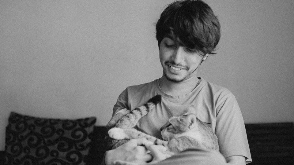 ayush and churo the cat